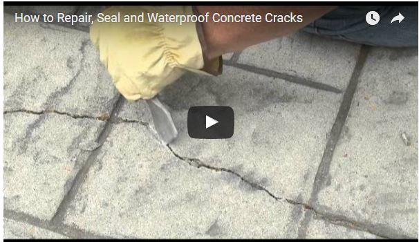 how to repair concrete cracks
